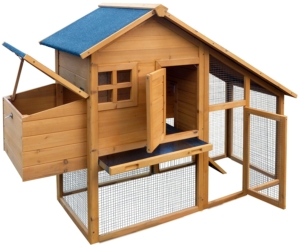Dobar - (Hühnerstall Holz) 24001FSC mit Freigehege auf 2 Etagen