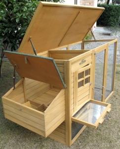 Hühnerstall für 5 Hühner - Pets Imperial Devonshire. Dach und Legenester aufklappbar.
