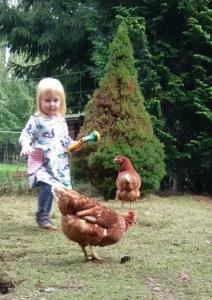 Blog - Tochter Tilda und die Hühner