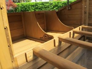 4 herausnehmbare Sitzstangen